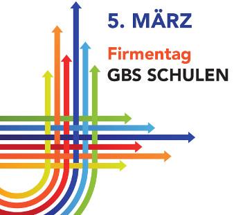 Flyer zum Firmentag, der hausinternen Jobmesse an den GBS Technikerschulen München