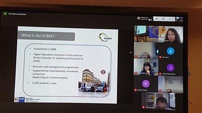 Screenshot eine Präsentation während der Erasmus Days an den GBS Schulen München