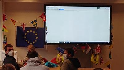 Vortrag während der Erasmus Days an den GBS Technikerschulen München